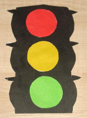 Как сделать светофор из бумаги своими руками
