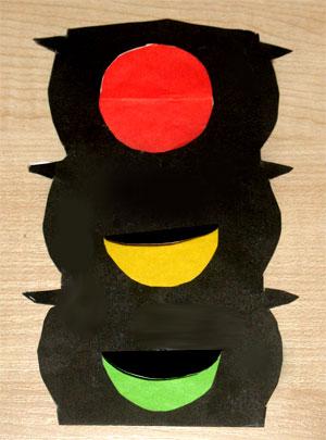 Светофор своими руками из бумаги и картона
