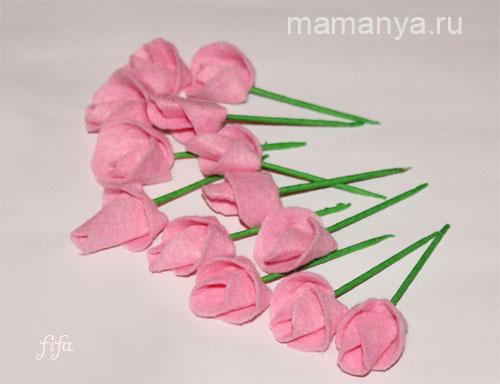 Букетик цветов своими руками