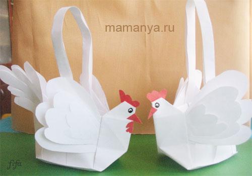 Как сделать объемную курицу своими руками