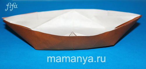 Лодочка из бумаги схема