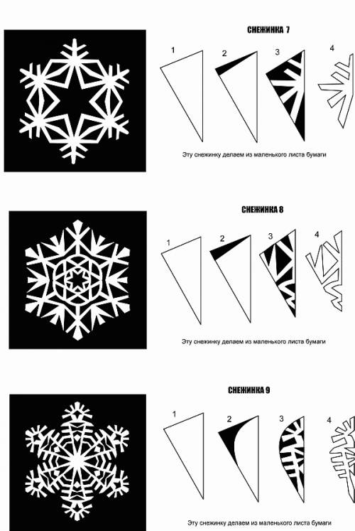 Как сделать из бумаги снежинку бесплатно